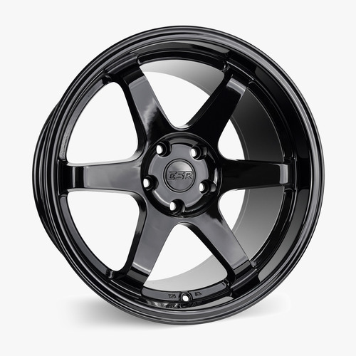 ESR Wheels SR07 18X9.5 5X100 +35 GLOSS BLACK FACE GLOSS BLACK LIP