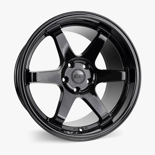 ESR Wheels SR07 17X8.5 5X120 (CUSTOM DRILL) +30 GLOSS BLACK FACE GLOSS BLACK LIP