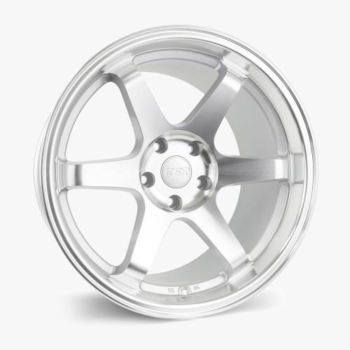 ESR Wheels SR07 18X10.5 5X108 (CUSTOM DRILL) +22 HYPER SILVER FACE MACHINED LIP