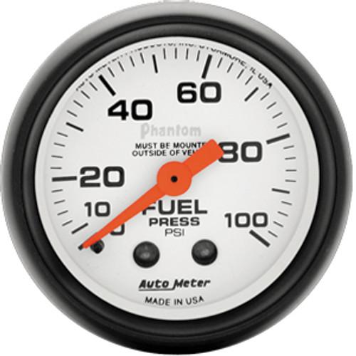Autometer Phantom 0-100 psi Fuel Pressure Gauge