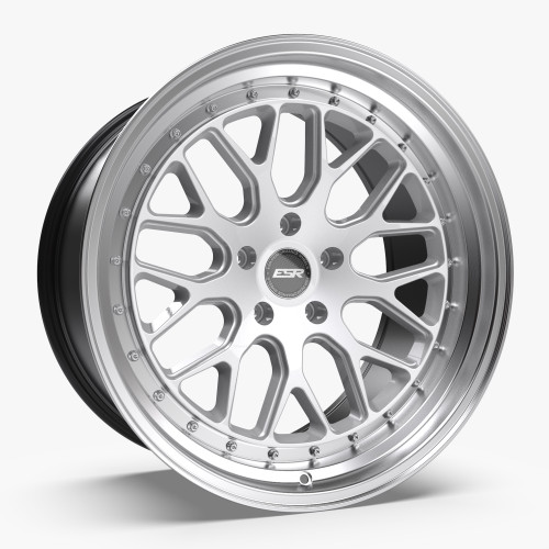ESR Wheels CS1 19X9.5 5X115 (CUSTOM DRILL) +22 HYPER SILVER FACE MACHINED LIP