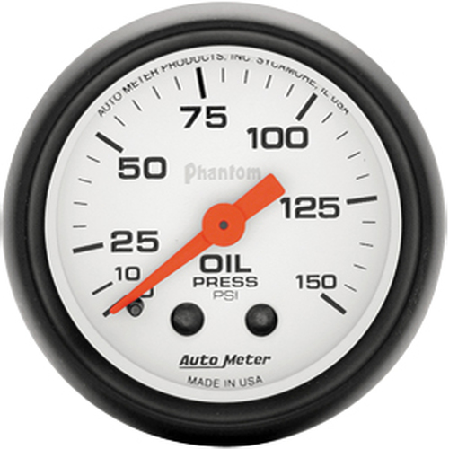 Autometer Phantom 0-100psi Electronic Oil Pressure Gauge