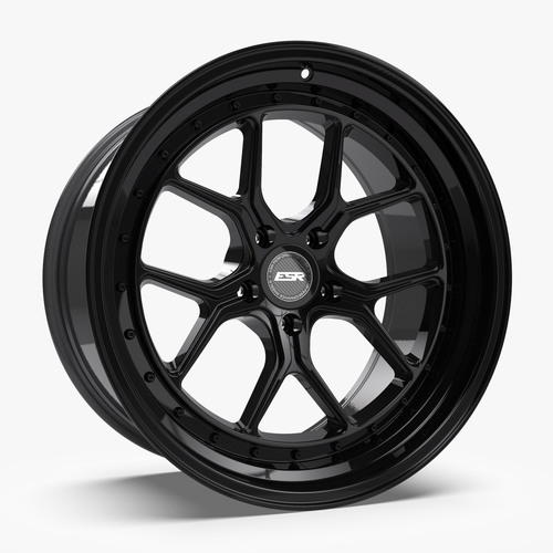 ESR Wheels CS2 19X10.5 5X114.3 (CUSTOM DRILL) +22 GLOSS BLACK FACE GLOSS BLACK LIP