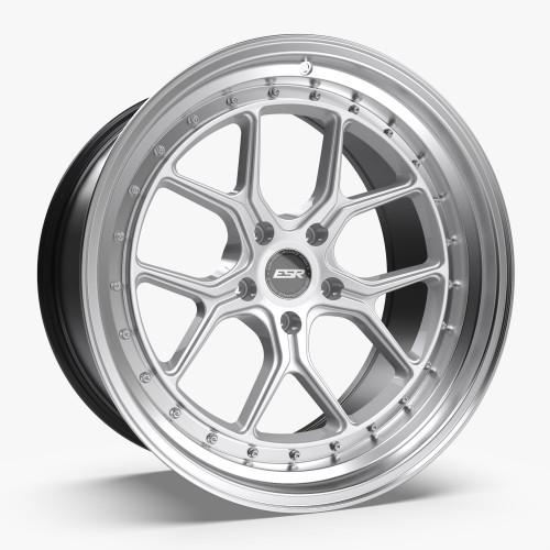 ESR Wheels CS2 19X9.5 5X115 (CUSTOM DRILL) +22 HYPER SILVER FACE MACHINED LIP