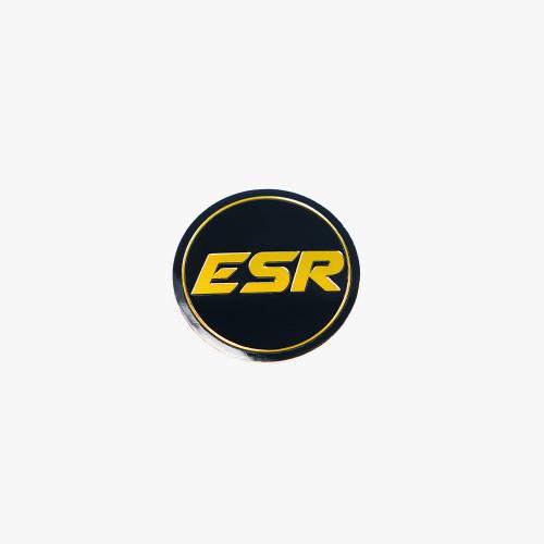 ESR Wheels SR08 LOGO BLACK WITH GOLD ESR SILVER CAP