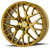 Aodhan Wheels LS009 18x9.0 5x114.3 +30 Gold Machined Face