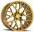 Aodhan Wheels LS009 20x9 5x120 +30 Gold Machined Face