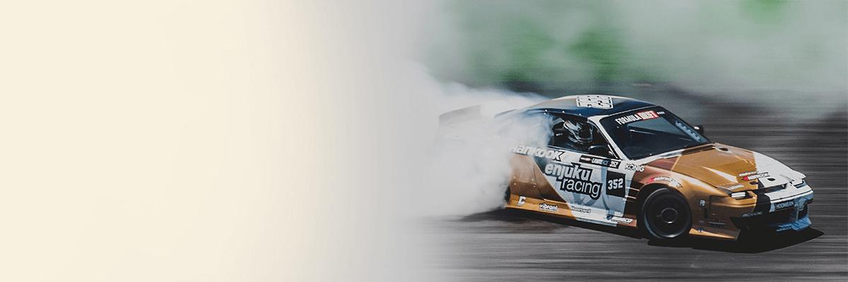 Racecar on race track