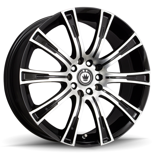 Konig Crown 18x8 5x100 Et35 Black Machine Face