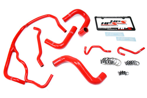 HPS 57-1269-RED-2 Red Silicone Radiator Coolant Hose Kit