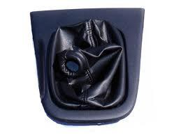 Autoguru Nissan Silva 240SX S14 94-98 Manual Shift Boot Synthetic Leather Black Gray Stitch