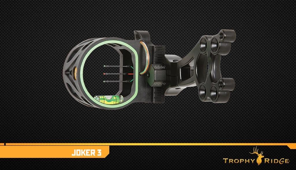 New Trophy Ridge Joker 3 Pin Bow Sight RH or LH Black Model# AS107