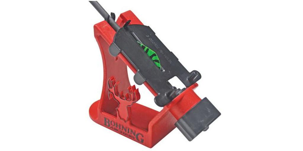 New Bohning Archery Blazer Helix Fletching Jig Kit w/ 36 Vanes & Glue 13441