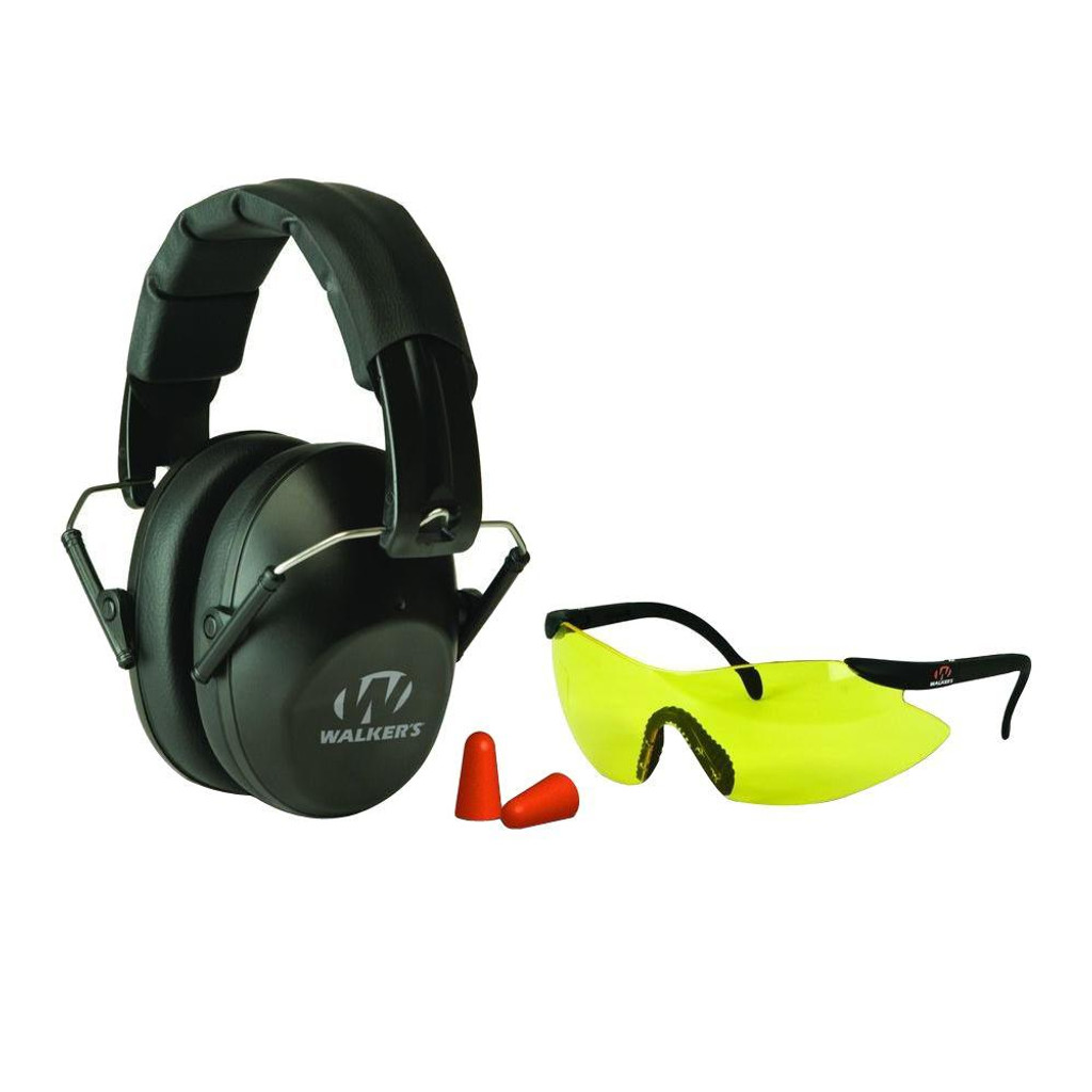 New Walkers Game Ears Low Profile Muffs  w/ Glasses and Plugs