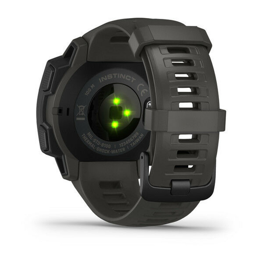 New Garmin Instinct Rugged GPS Smartwatch Military Standard Graphite Color