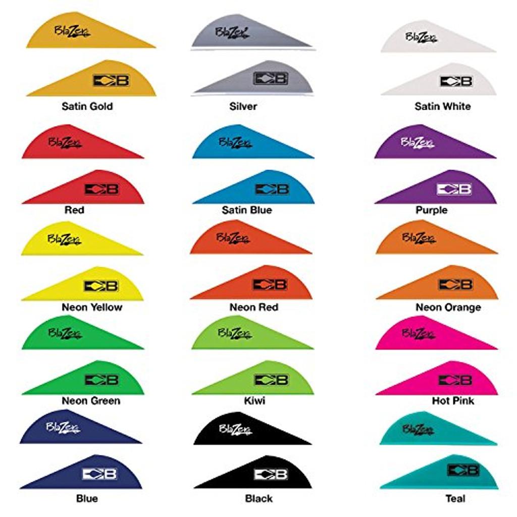 "Bohning 2/"" Blazer Vanes Neon Green 36 Pack"