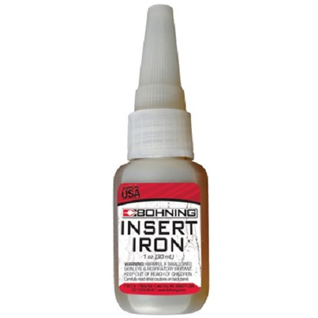 New Bohning Insert Iron Adhesive for Points, Inserts, Outserts & Bushings 1oz. Bottle