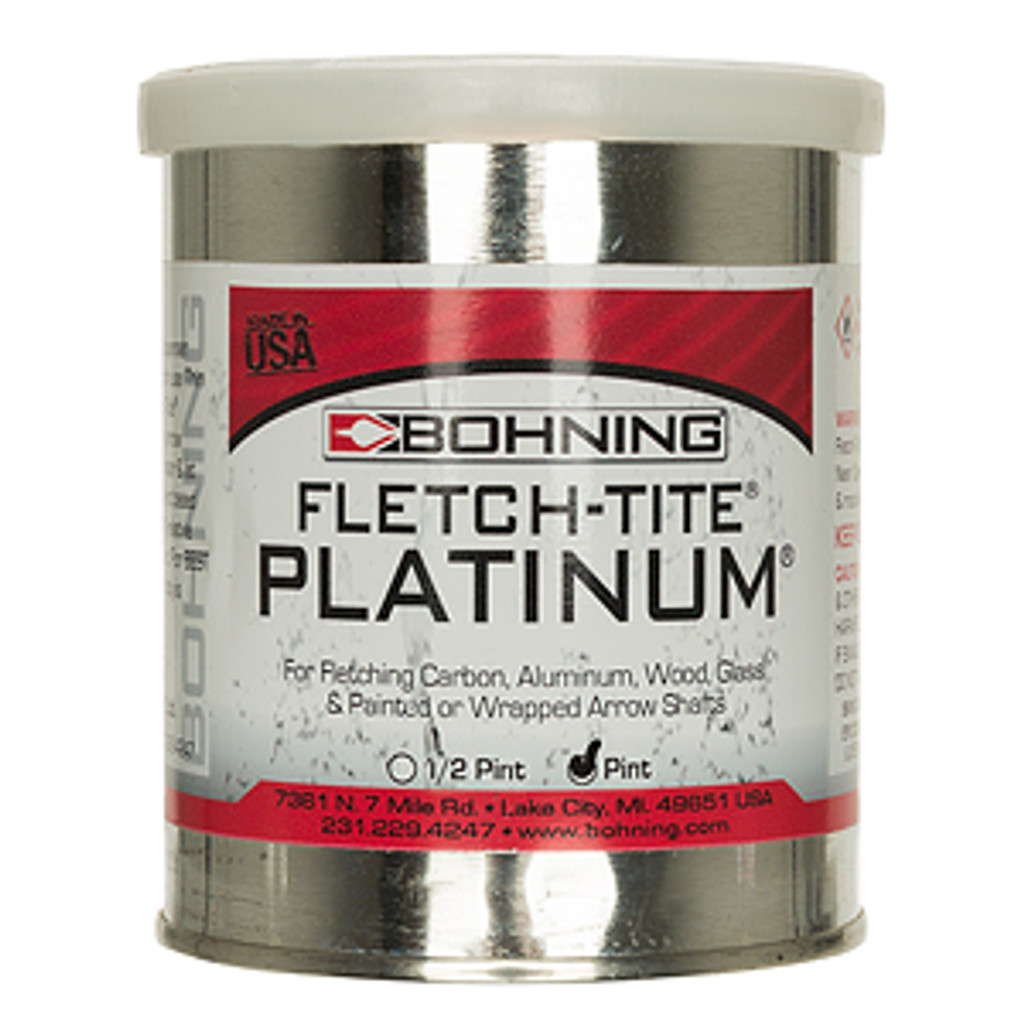 New Bohning Fletch-Tite Platinum Fletching Adhesive Pint Can