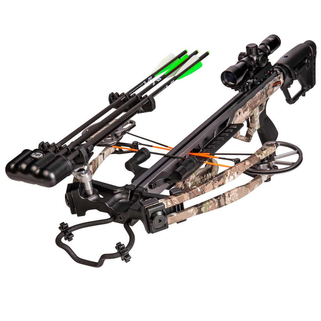 New Bear Archery BearX Constrictor Crossbow RTH Package 410 FPS True Timber Strata Camo