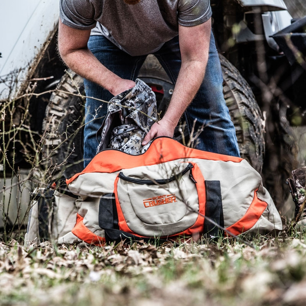 New Scent Crusher Scent Eliminating Ozone Gear Bag Large