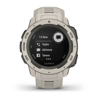 New Garmin Instinct Rugged GPS Smartwatch Military Standard Tundra Color
