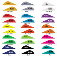New Bohning Blazer Vanes Solid Color, Tiger Stripe, and True Color 100 Packs