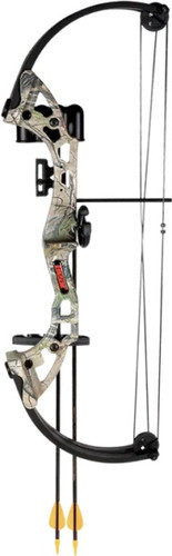 Bear Archery Brave Youth Compound Bow Kit Camo Model# AYS300CR