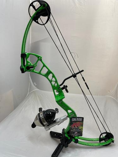 PSE Mudd Dawg Bowfishing Package 30-40# RH Green Water Drop w/ Reel Kit