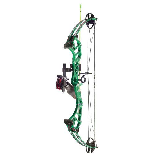 PSE Mudd Dawg Bowfishing Package 30-40# RH  Green DK'D Finish w/ Cajun Bottle Reel