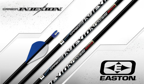 Easton 4MM Carbon Injexion Arrows- Fletched ( 6 Pack)