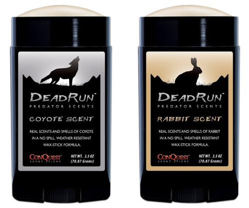 New ConQuest Scents Dead Run Predator Package Scent Sticks 2.5 oz Model# 1506
