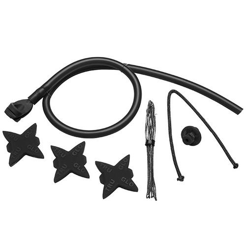 New TruGlo Archery Bow Accessory Kit Black w/ Peep Loop Kisser Silencers TG601A