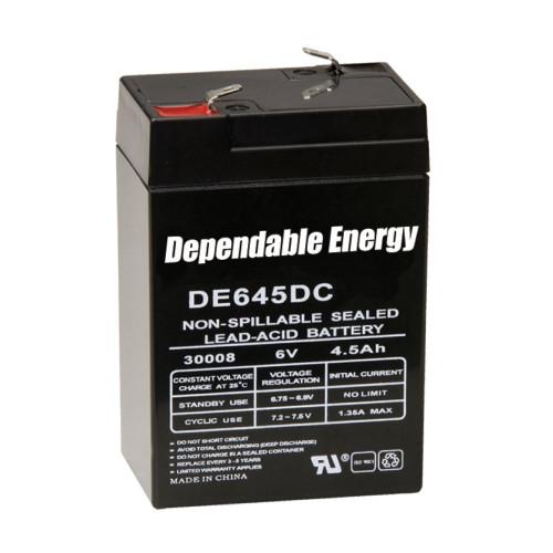 New American Hunter 6 Volt 4.5 AMP HR Rechargeable Battery Model# DE-30008