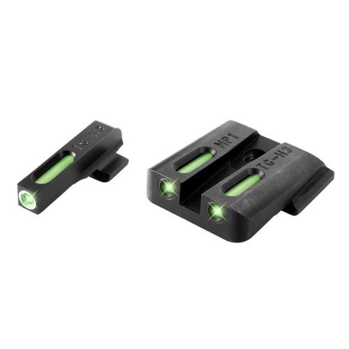 New TruGlo TFX S&W M&P Set Pistol Tritium Fiber Day/Night Sights TG13MP1A