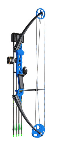 New Mathews Genesis Gen-X Youth Bow Blue RH 25-40# Kit Model# 12342