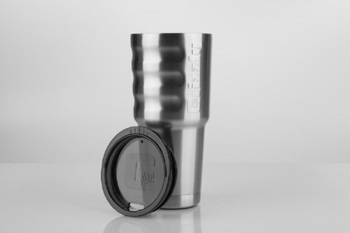 New Grizzly Grip Cup 32 oz Vacuum Insulated Brushed Stainless Steel
