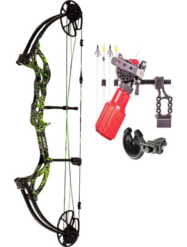 Bear Archery Cruzer G2 5-70# RH Moonshine Toxic Camo Cajun Winch Bowfising PKG