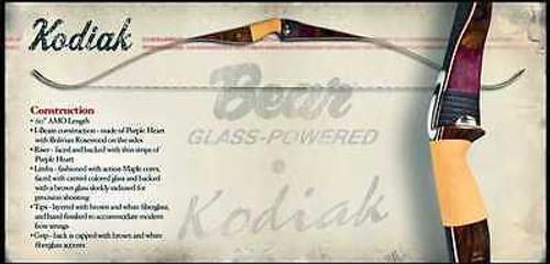 New Bear Archery Kodiak 50# RH Recurve Bow Package w/ Glove Armguard & Stringer