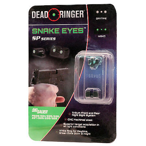 New Dead Ringer Snake Eyes SP Series Tritium Night Sight DR4951 Sig Sauer Series