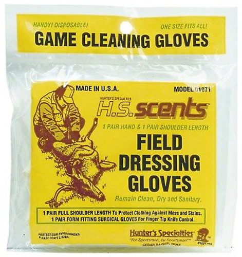 New Hunters Specialties Field Dressing and Gutting Gloves 2 Pairs