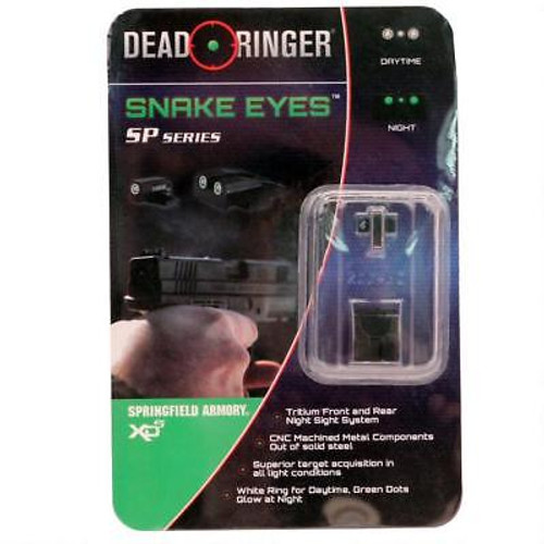 Dead Ringer Snake Eyes SP Series Springfield XDs Models 3 Dot Sight Green DR5002