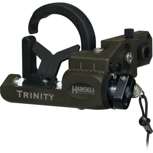 Hamskea Archery Solutions Trinity Hunter Micro-Tune Right Hand OD Green Limb Driven Rest