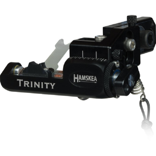 Hamskea Archery Solutions Trinity Target Pro Micro-Tune Right Hand Black Limb Driven Rest