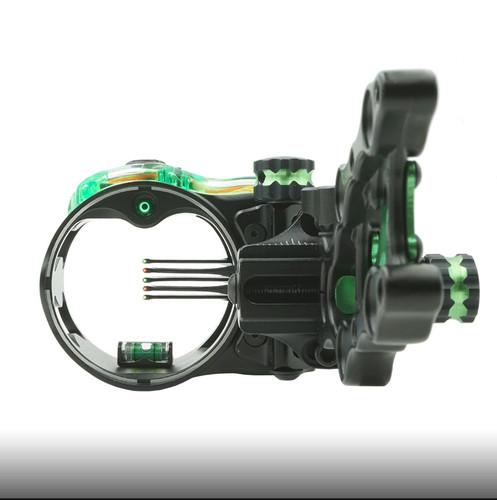 New IQ Micro Retina Lock Bow-Sight 5 Pin (.019) Archery Compound RH Black