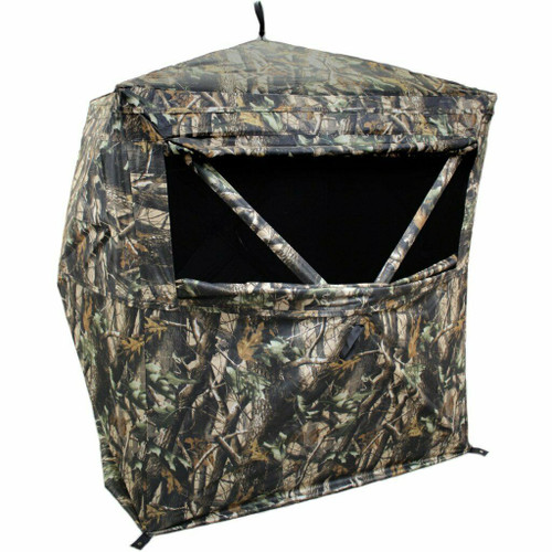 HME Products 2-Person Pop-Up Hunting Ground Blind Camo