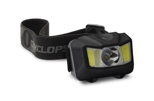 Cyclops 250 Lumen Conductive Touch Headlamp Green COB Led