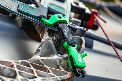 New B3 Archery Rival Buckle Strap Release Aid w/ Flex Connector - Green