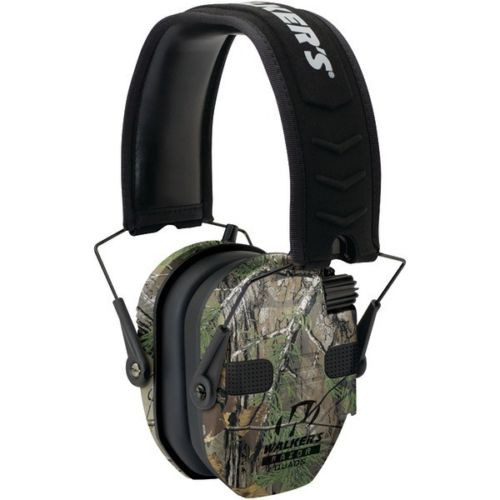 New Walkers Game Ear Razor Slim Electronic Quad Muff In Realtree Xtra