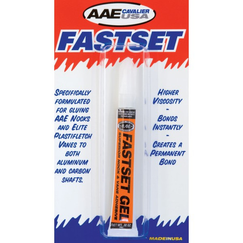 New AAE Arizona Archery Enterprises FastSet Gel Glue 9 Gram Tube