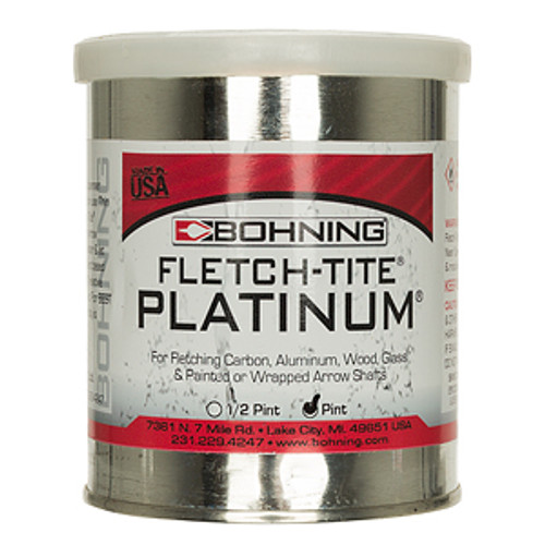 New Bohning Fletch-Tite Platinum Fletching Adhesive Pint Can